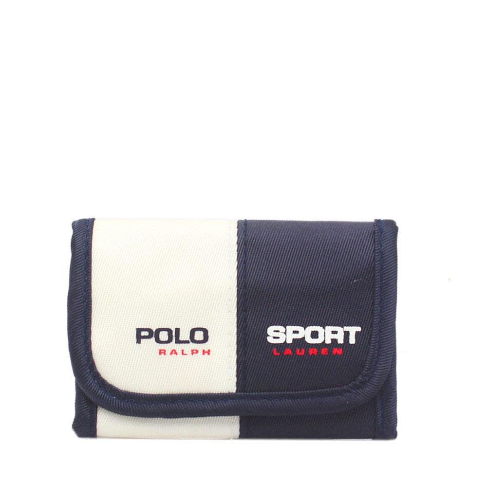 Ralph Laurel Polo Blue White Fabric Vert Sport Key Case