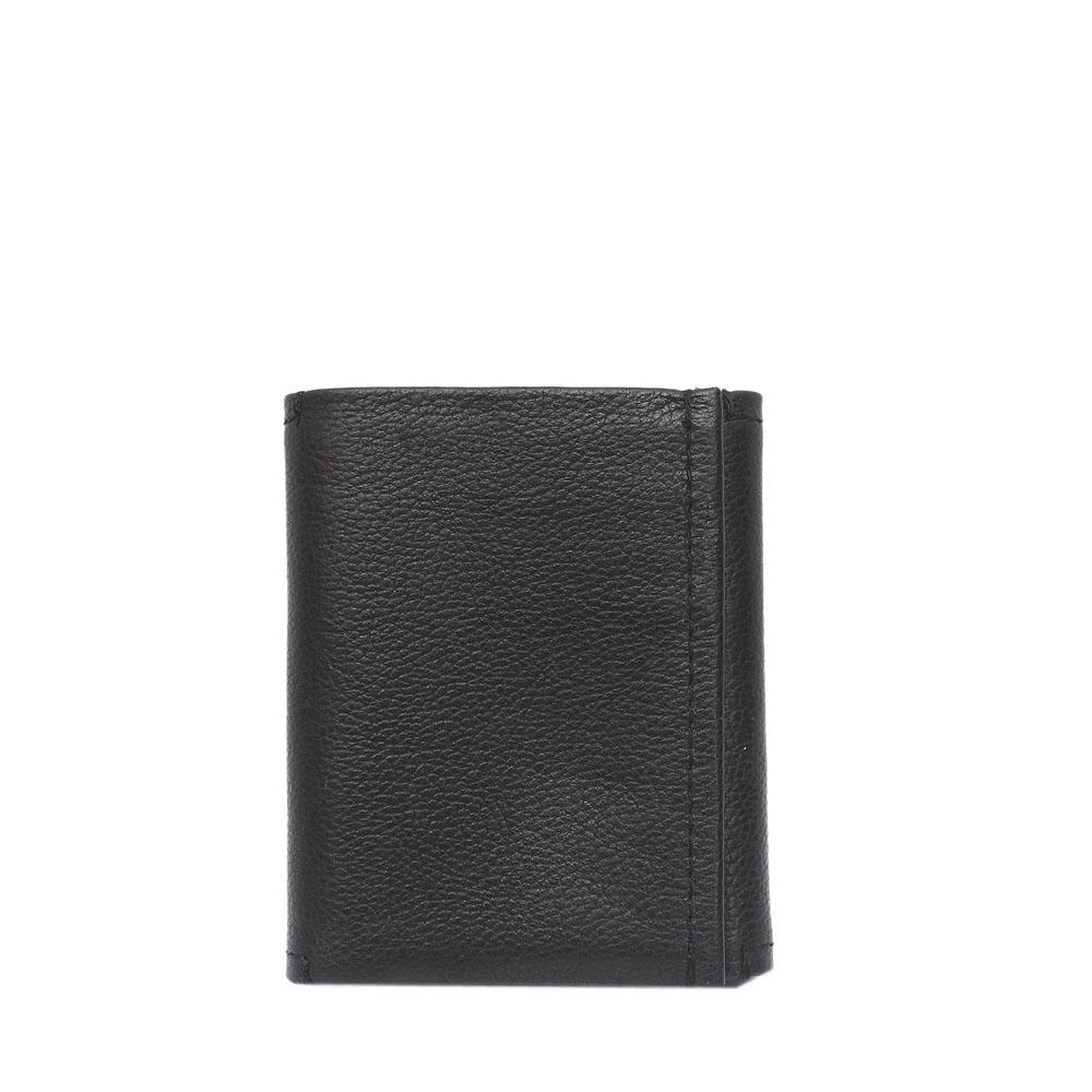 M & S Black Leather Trifold Men Wallet