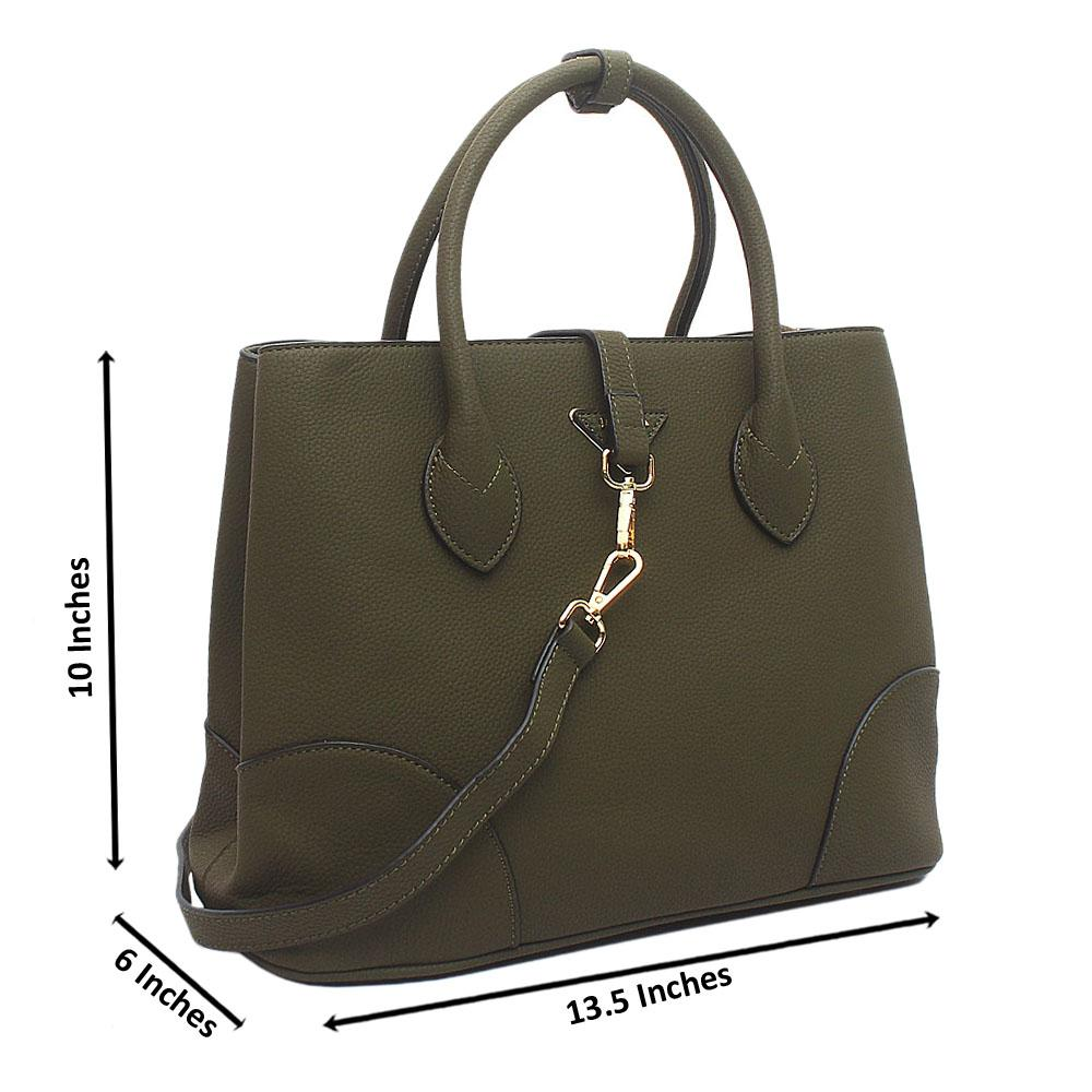 Green Milano Medium Leather Handbag