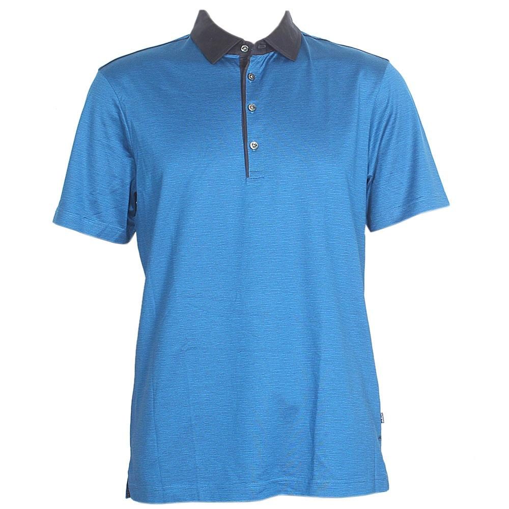 Autograph Tailored Fit Blue S/Sleeve Men Polo Sz L