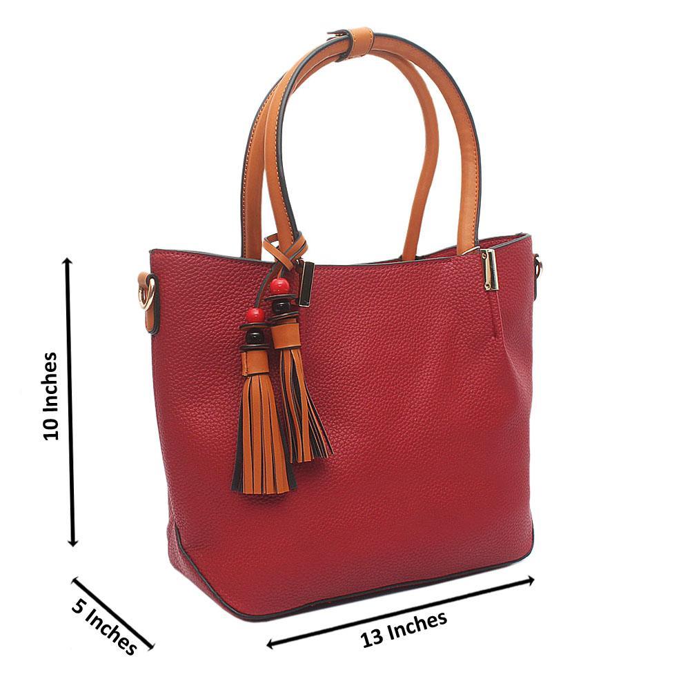Wine Brown Ellie Medium Leather Handbag