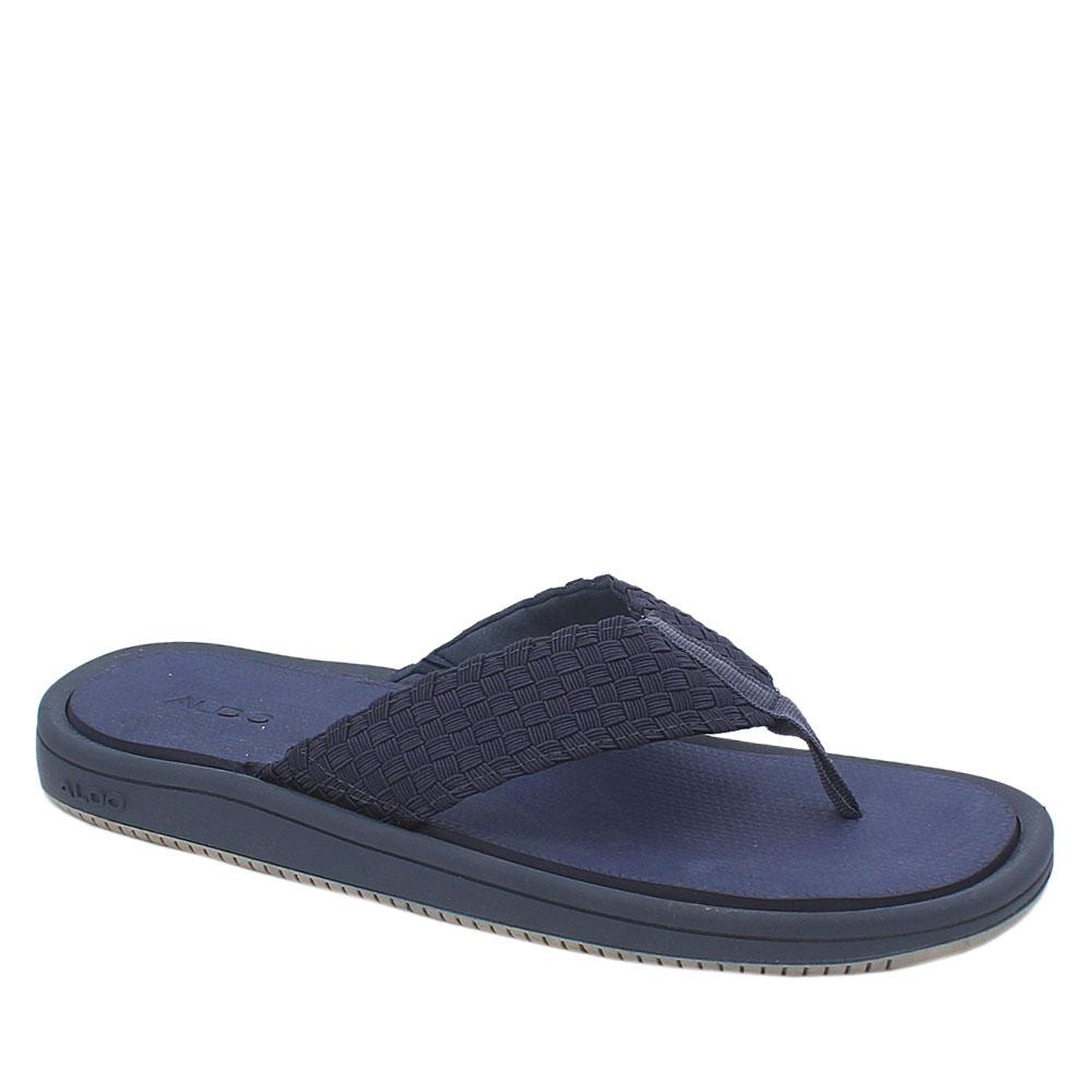 Aldo Blue Fabric Comfort Fit Men Slip on