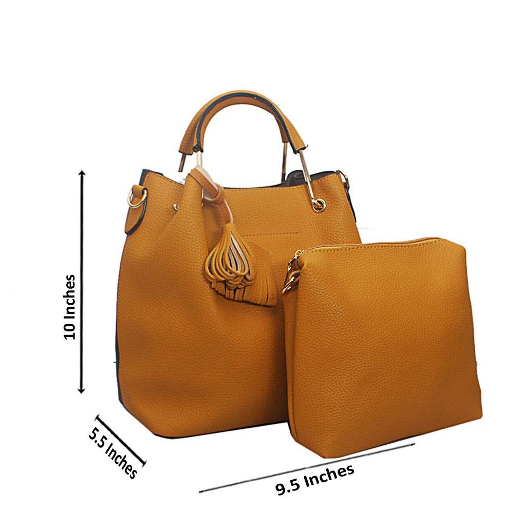 Green Yellow Floxy Tandy Leather Handbag