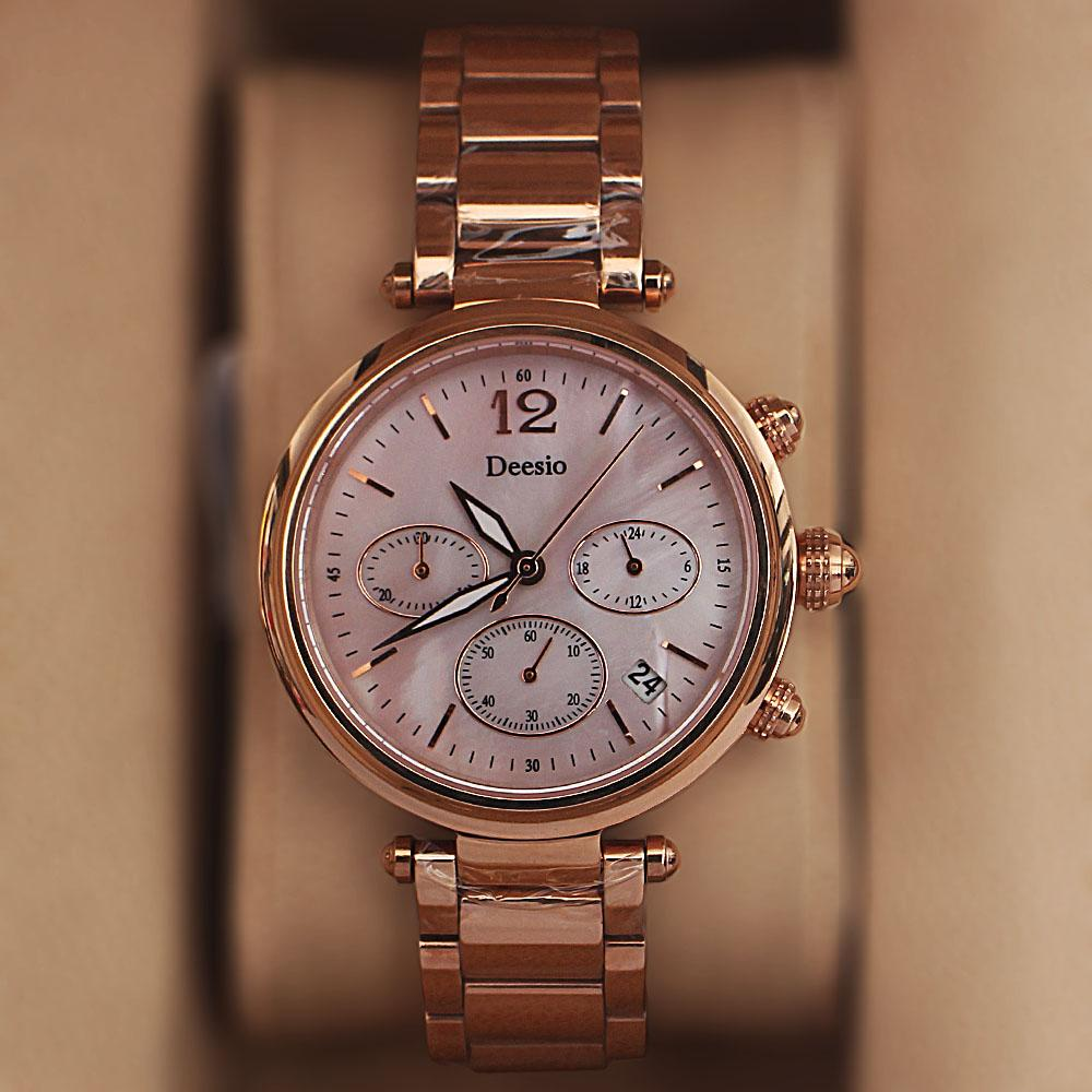 Deesio Rose Gold Chronograph Ladies Watch