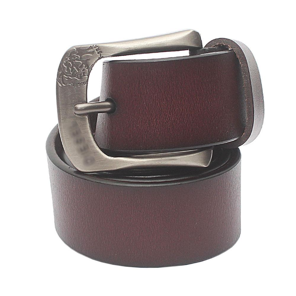 Dark Tan Brown Exotic Leather Belt L 48 Inches