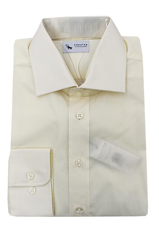 Chester Cream Cotton L/Sleeve Men Shirt