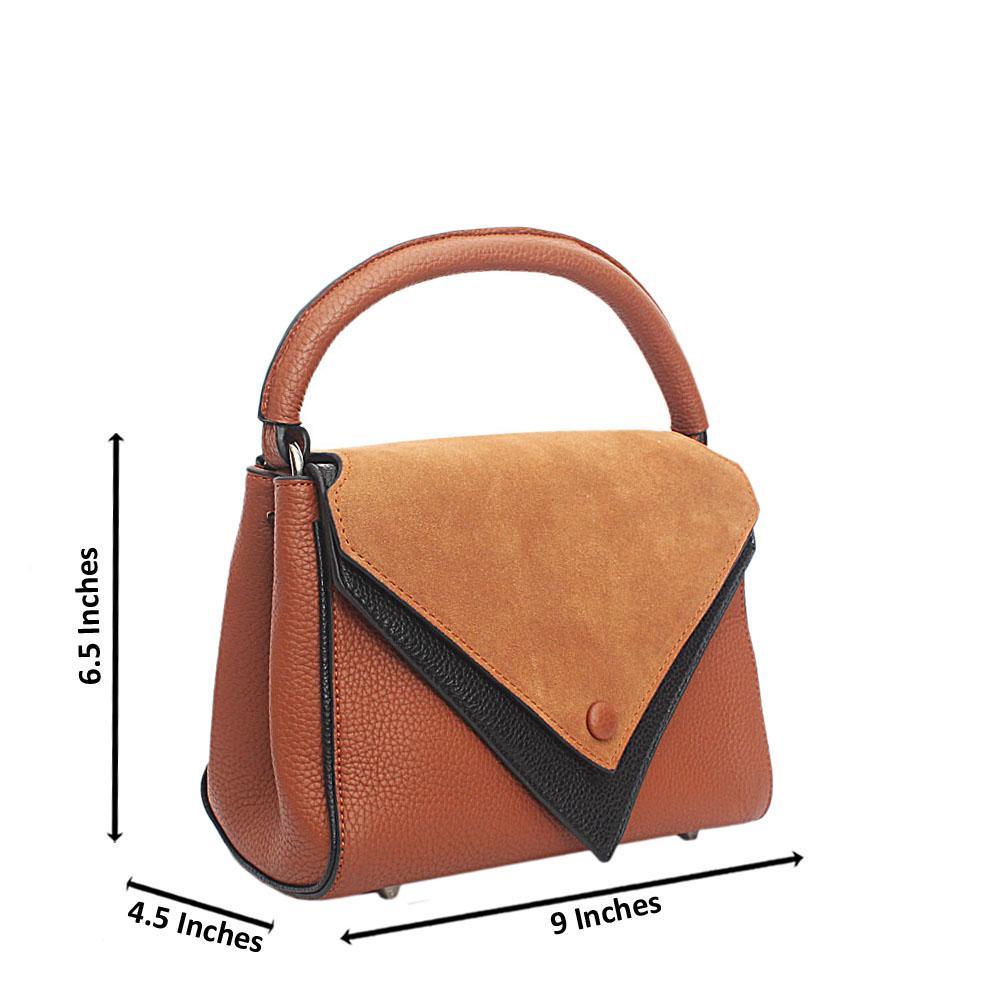 Brown Leather Mini Single Handle Bag