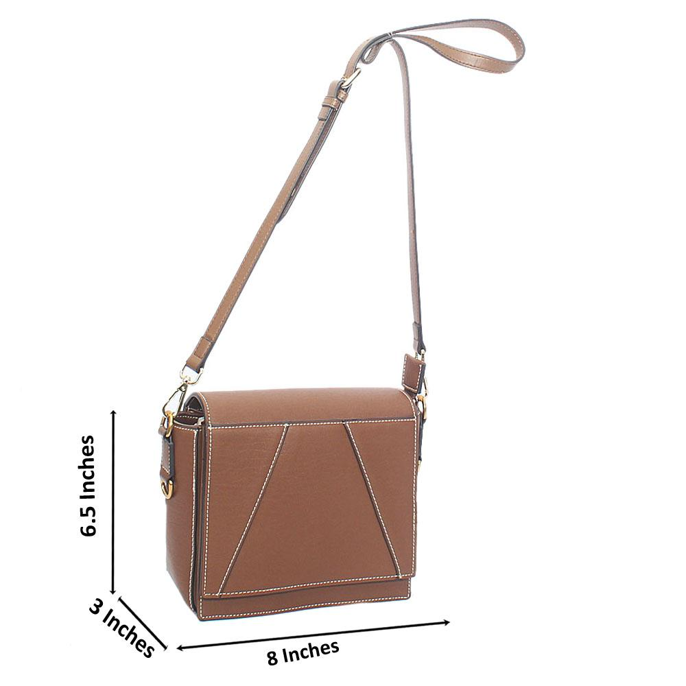 Carton Brown Teleq Aussie Leather Crossbody Handbag