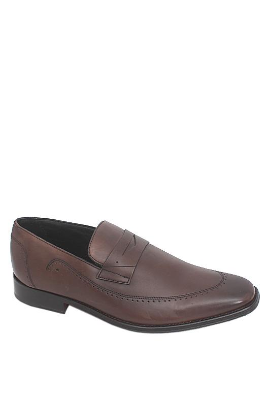 M & S Collezione Coffee Leather Men Shoe