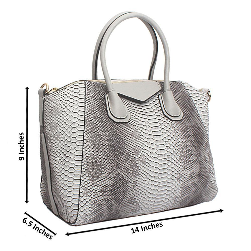 Grey Leather Medium Antigona Bag
