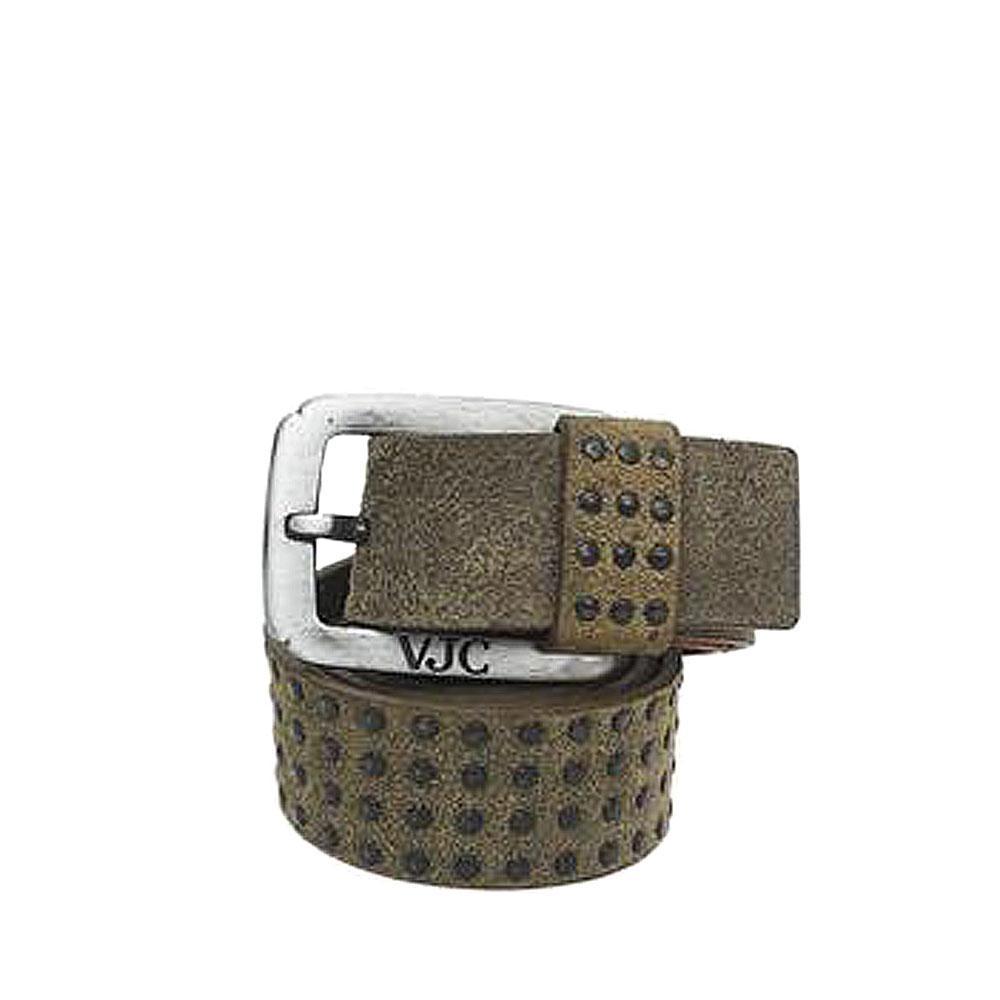 VJC Army Green Genuine Leather Men Belt-L 50 Inches