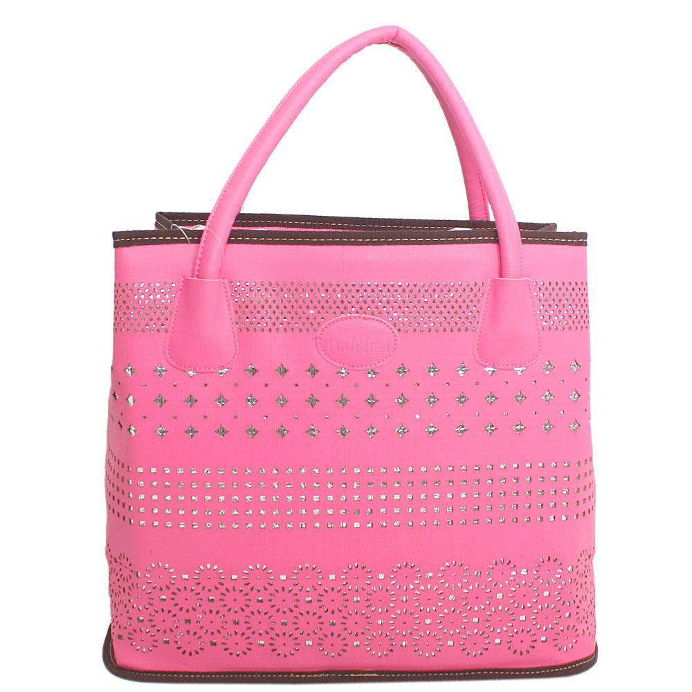 Pine-Eiffel-Pink-Leather-Tote-Bag