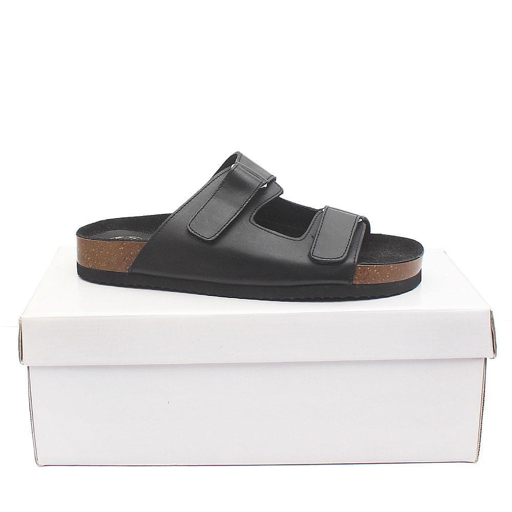 Kurt Geiger Black Premium Leather Men Slippers