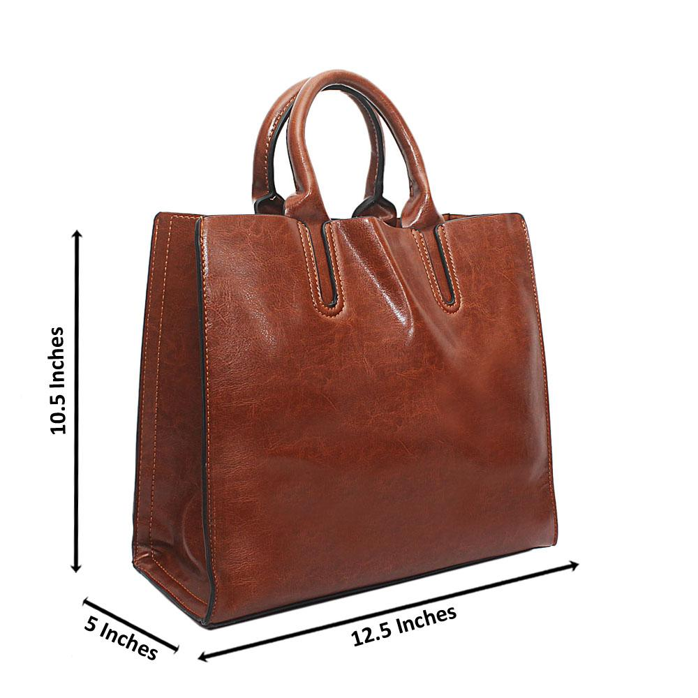 Brown Bahamas Leather Handbag