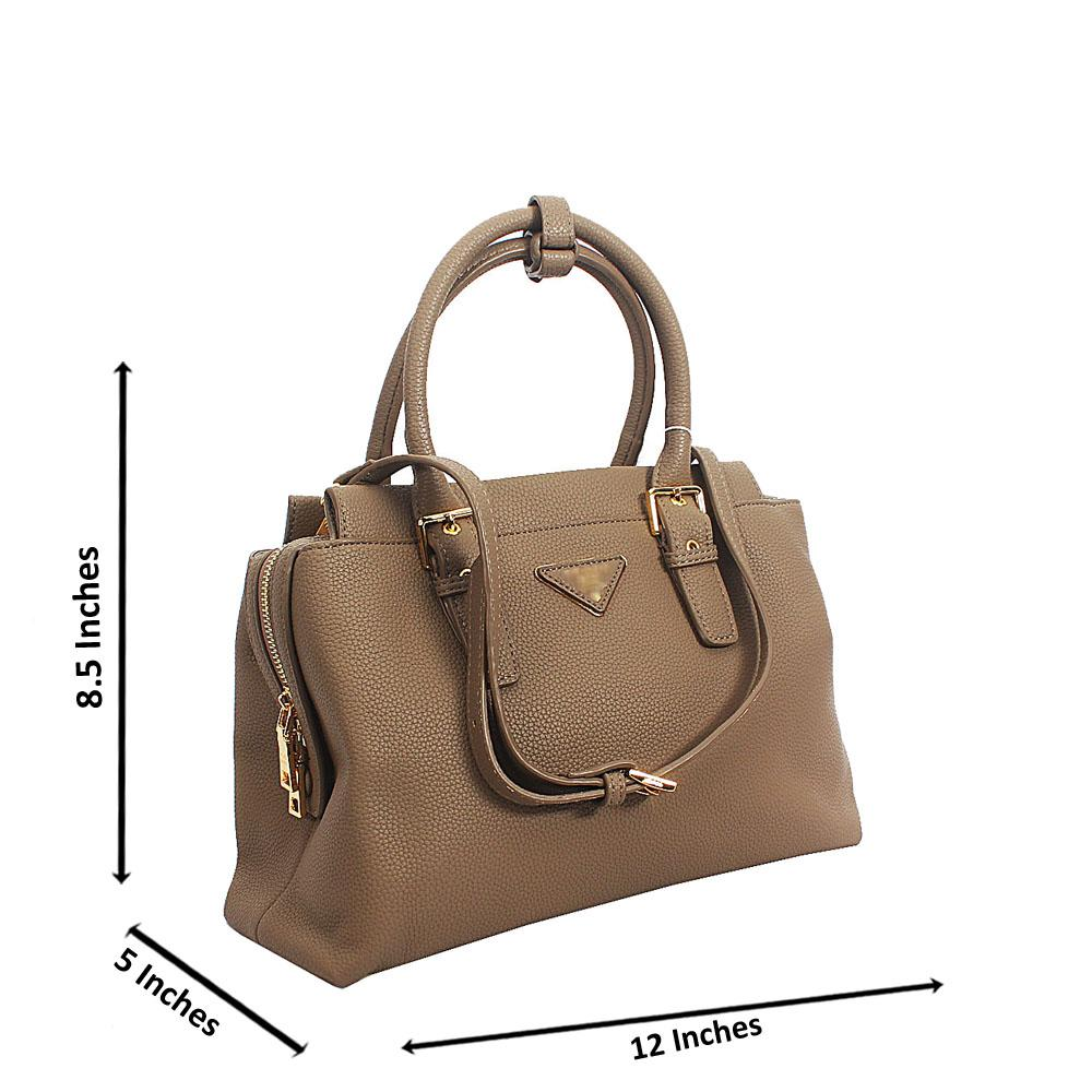 Beige Kya Tuscany Leather Small Tote Handbag
