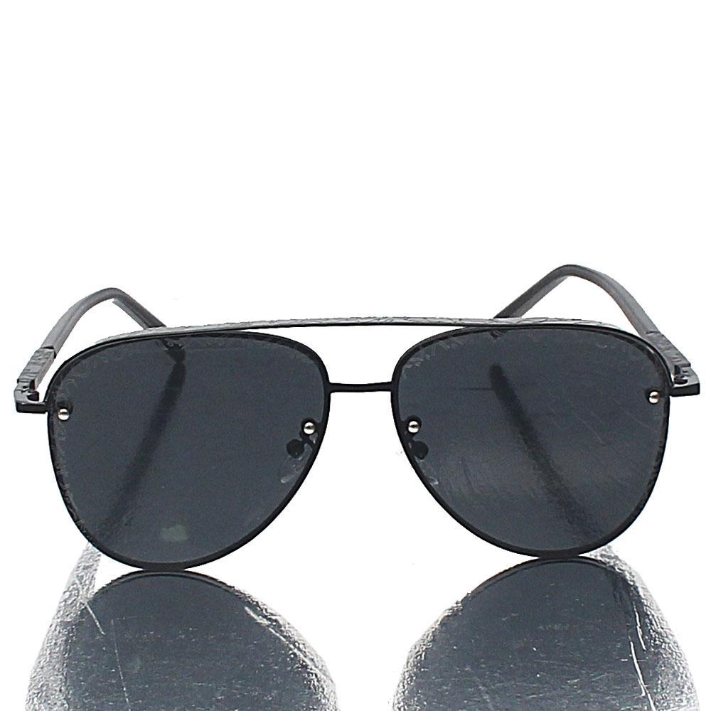 Black Pilot Dark Lens Sunglasses