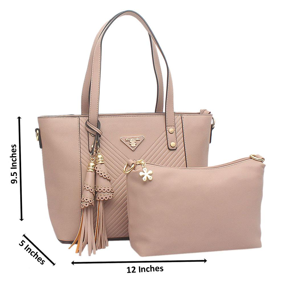Camel Brown Medium Milanzi Leather Handbag