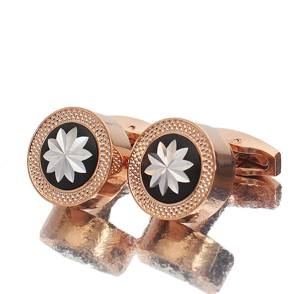 Rose Gold Crafted Stainless Steel Cufflinks