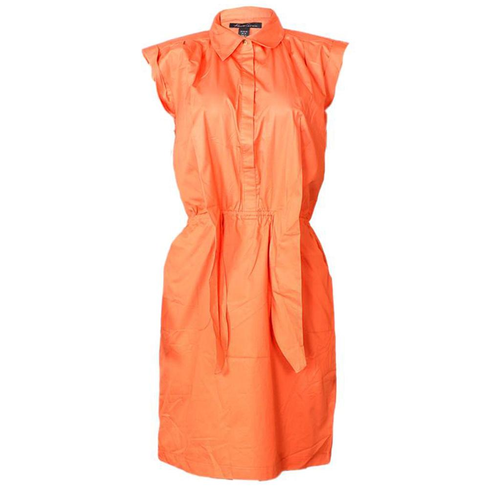 Kenneth Cole Orange Cotton Ladies Dress-M