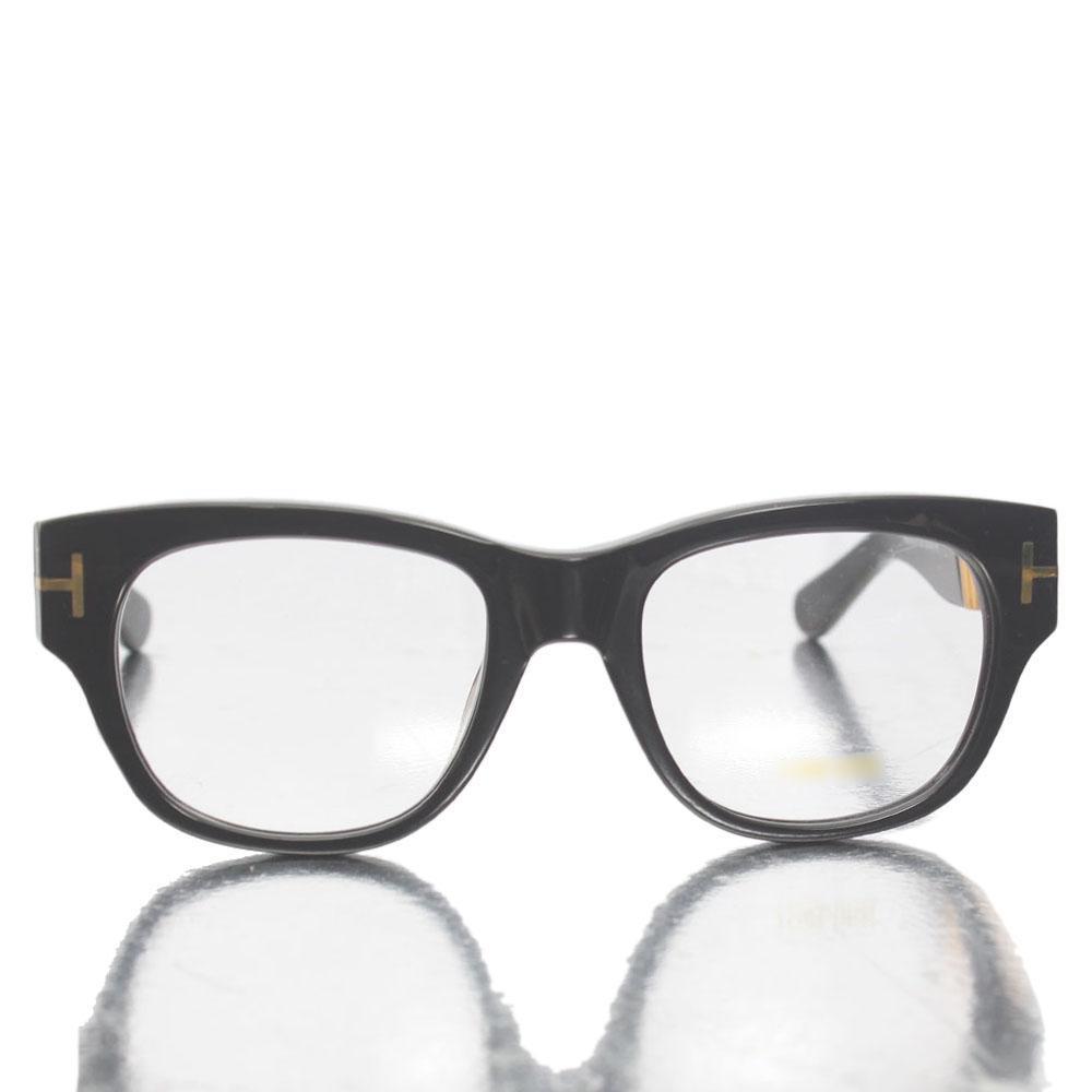 Gold Black Wayfarer Transparent Lens Glasses