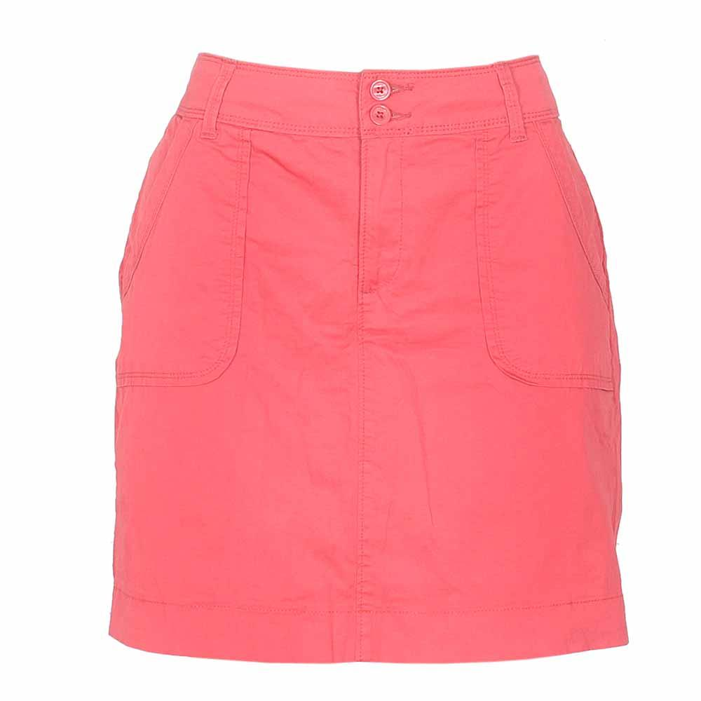 Lee Red Ladies Cotton Straight Skirt