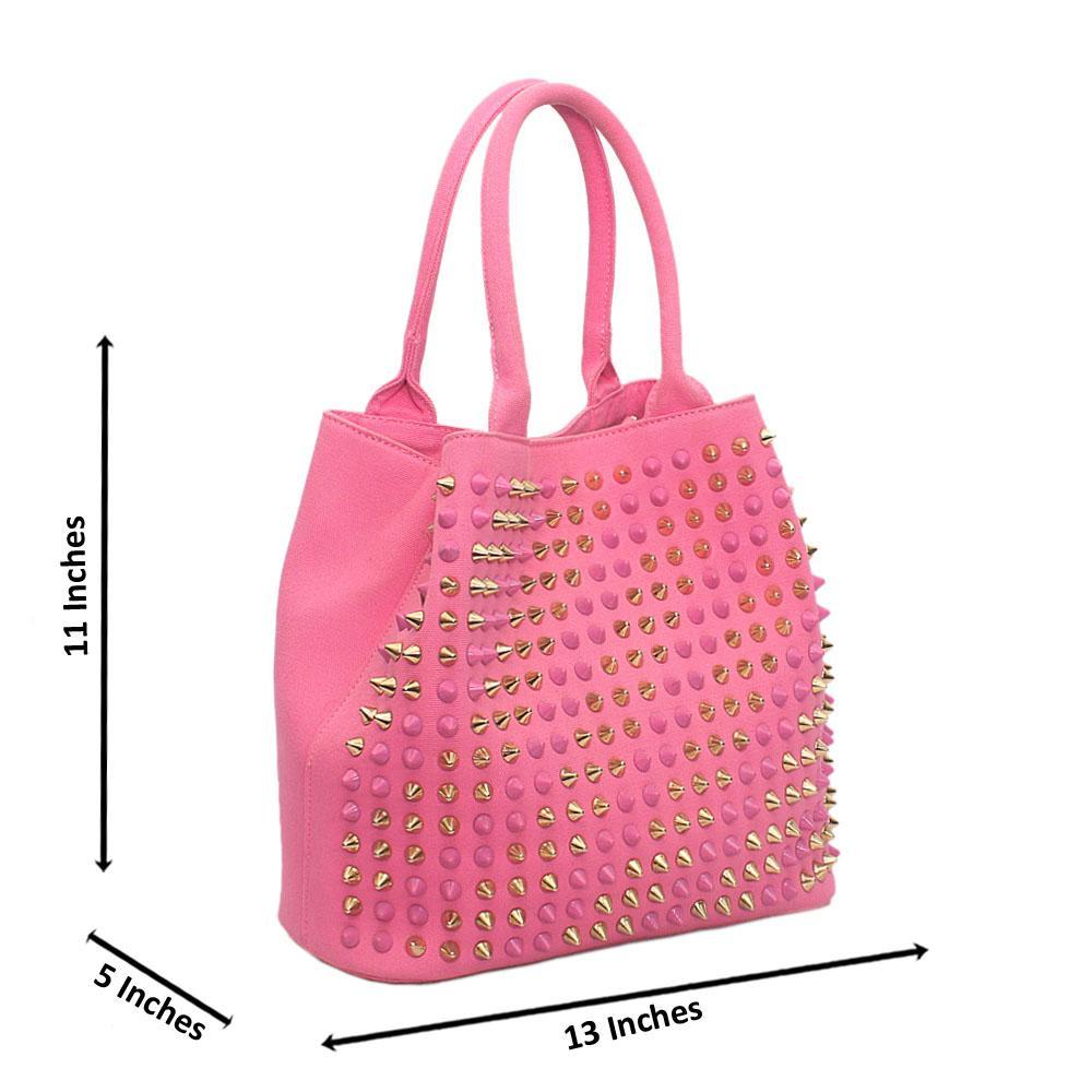Pink Faded Fabric Handbag