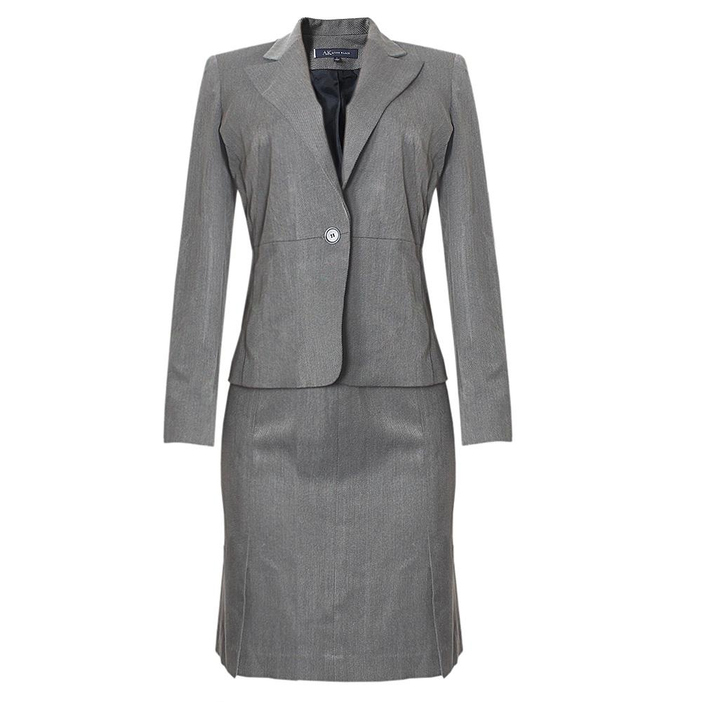 AK Anne Klein Gray Ladies Skirt Suit Sz 4