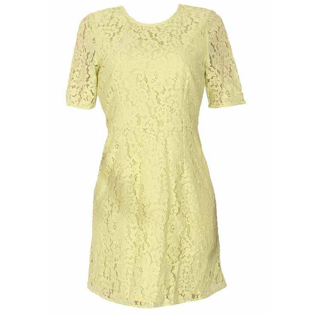M&S Limited Lemon Ladies Lace Dress-Uk 10