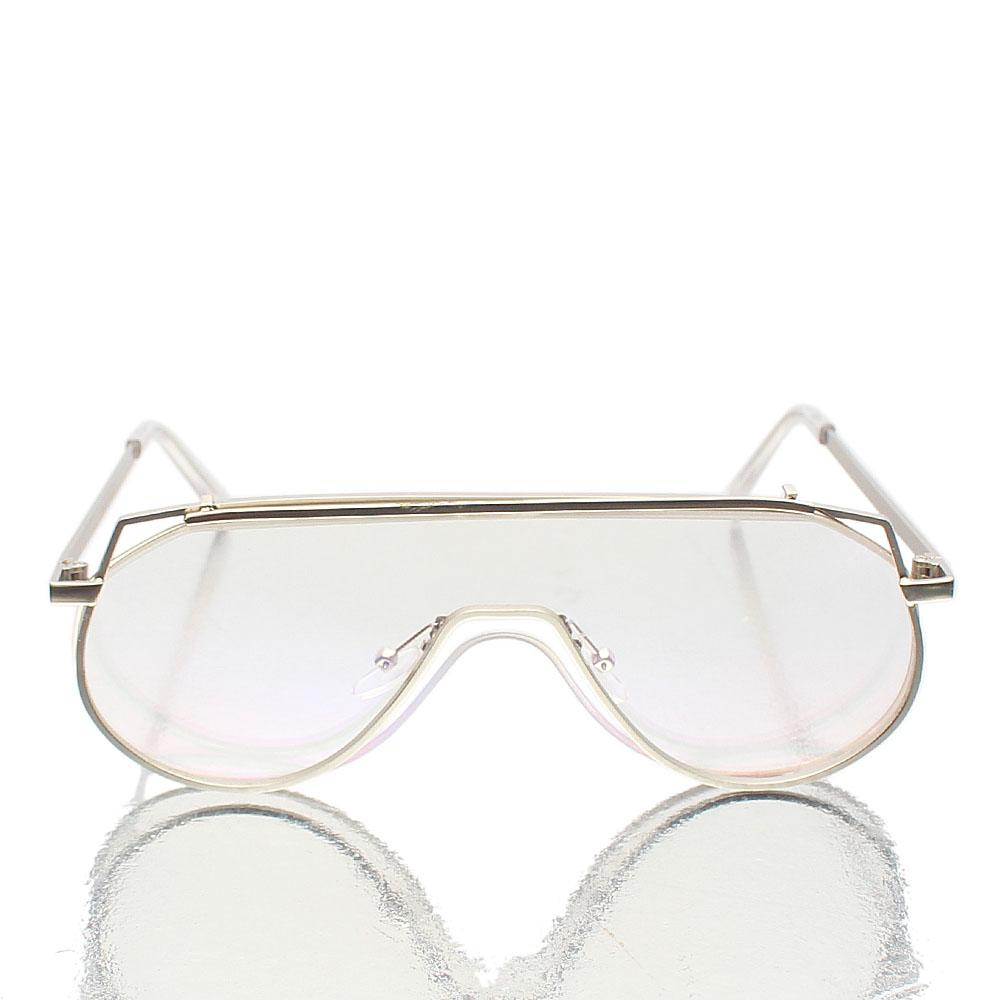 Silver Shield Clear Lens Glasses