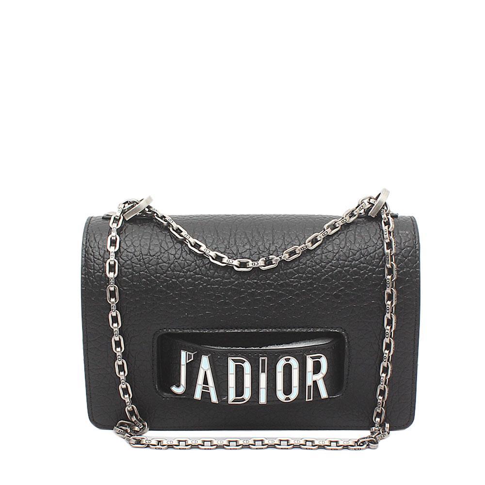 Black Calfskin Leather Flap Bag