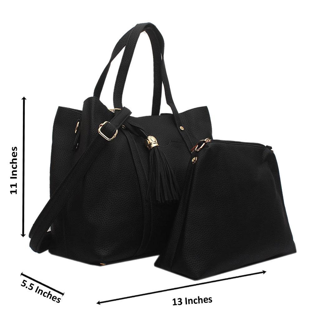 Black Jessica Leather Handbag