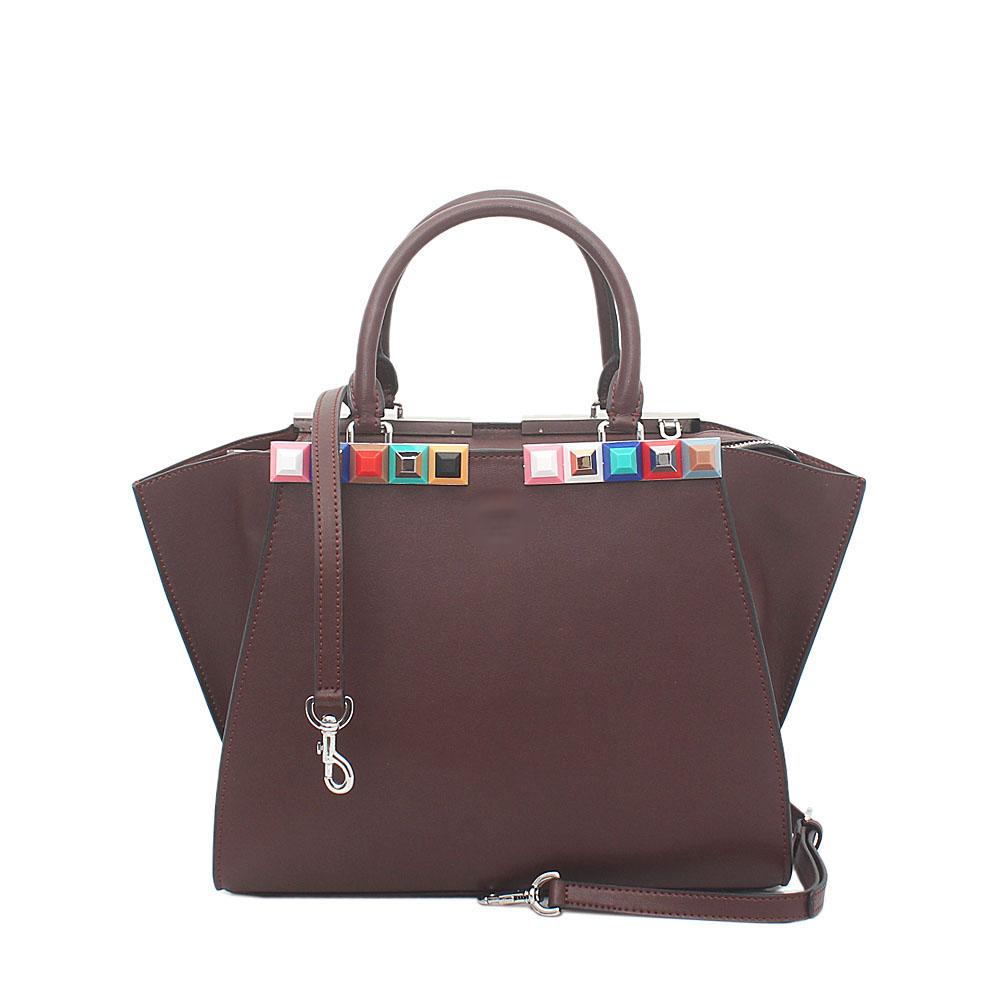 Brown Saffiano Leather Medium 3Jours Bag