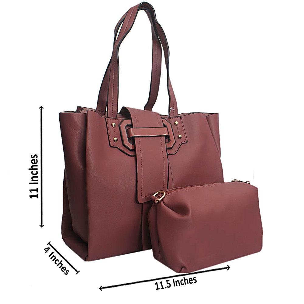 Pink Belt Leather Shoulder Bag