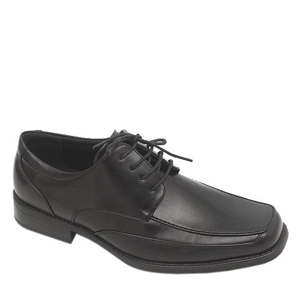 M & S Collection Black Lace-Up Leather Men Shoe-Sz 42