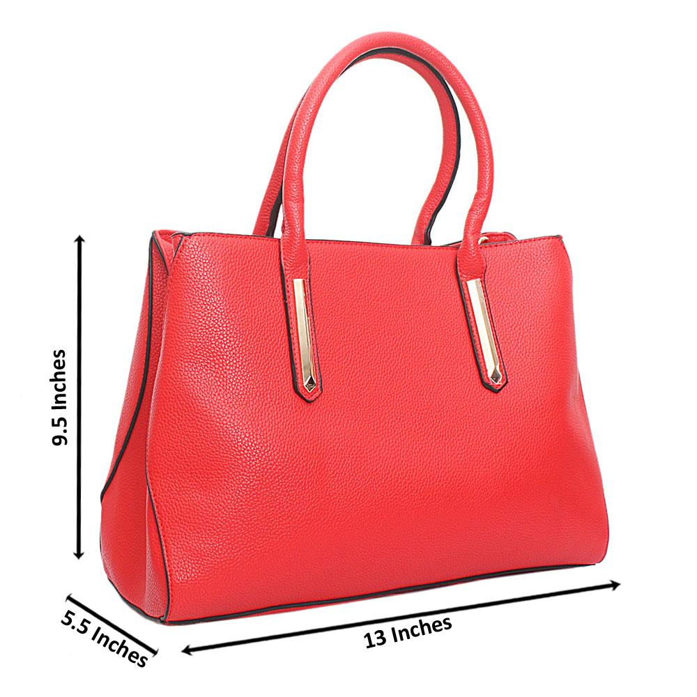 Red Leather Medium Perry Handbag