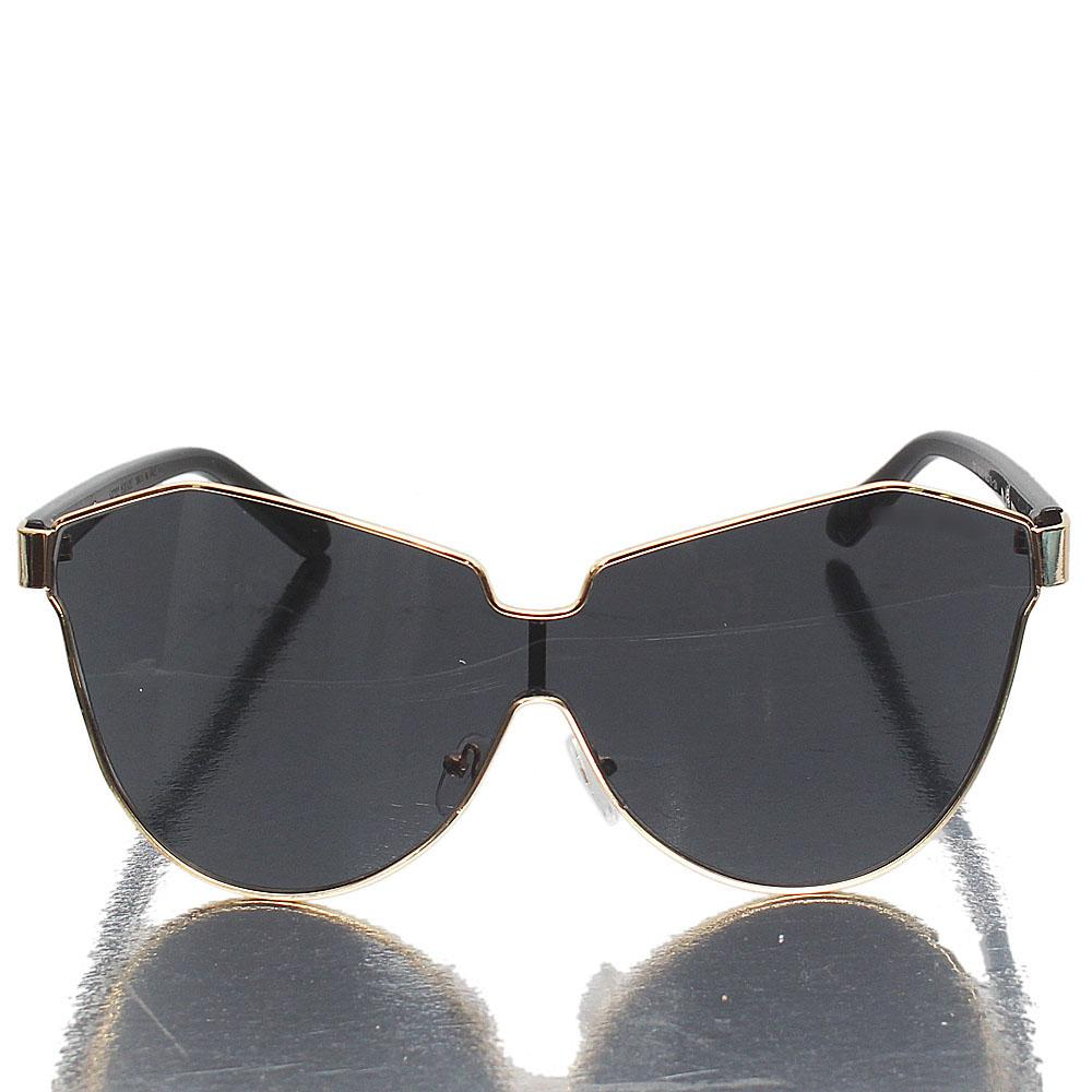 Gold Black Butterfly Dark Lens Sunglasses