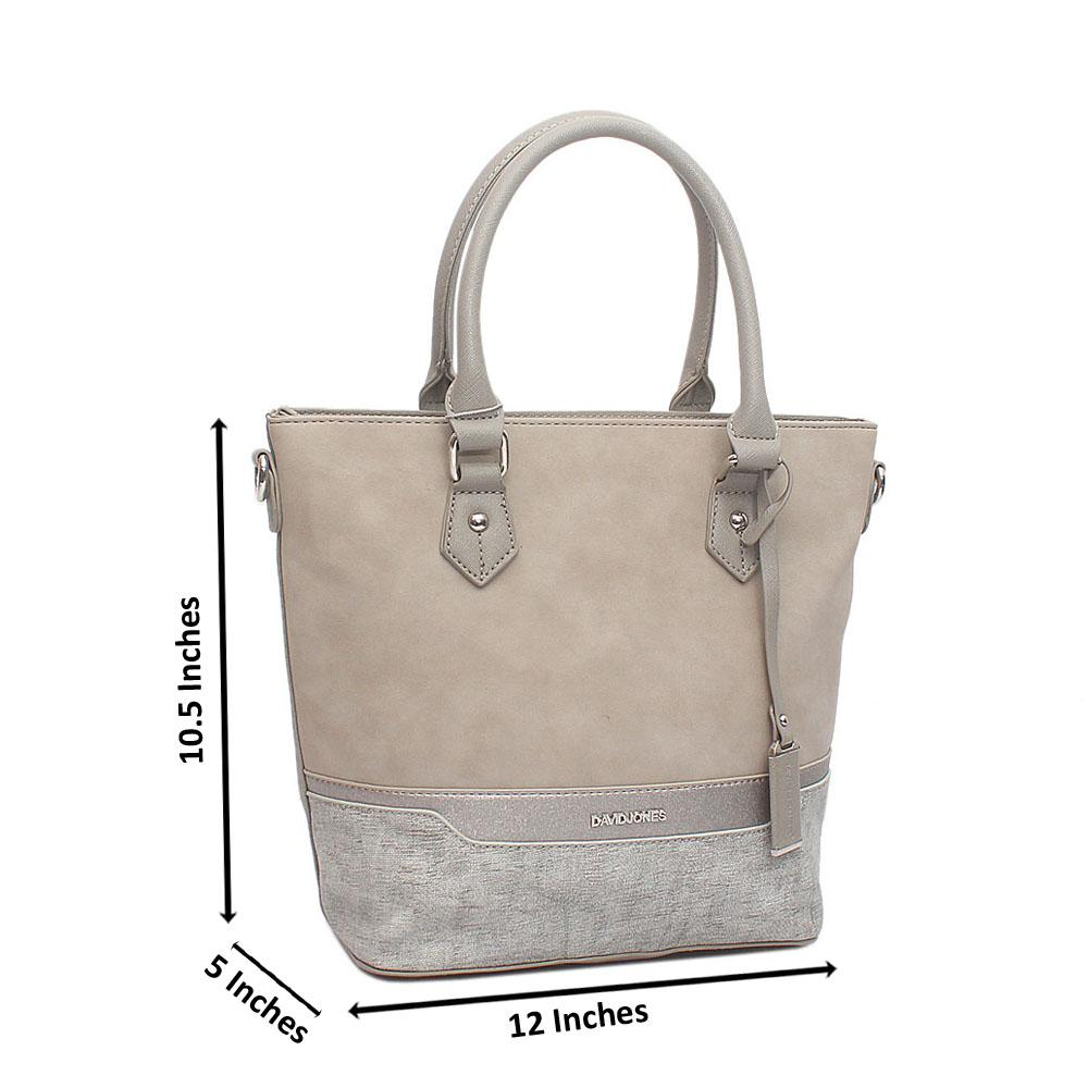 David Jones Nude Leather Handbag