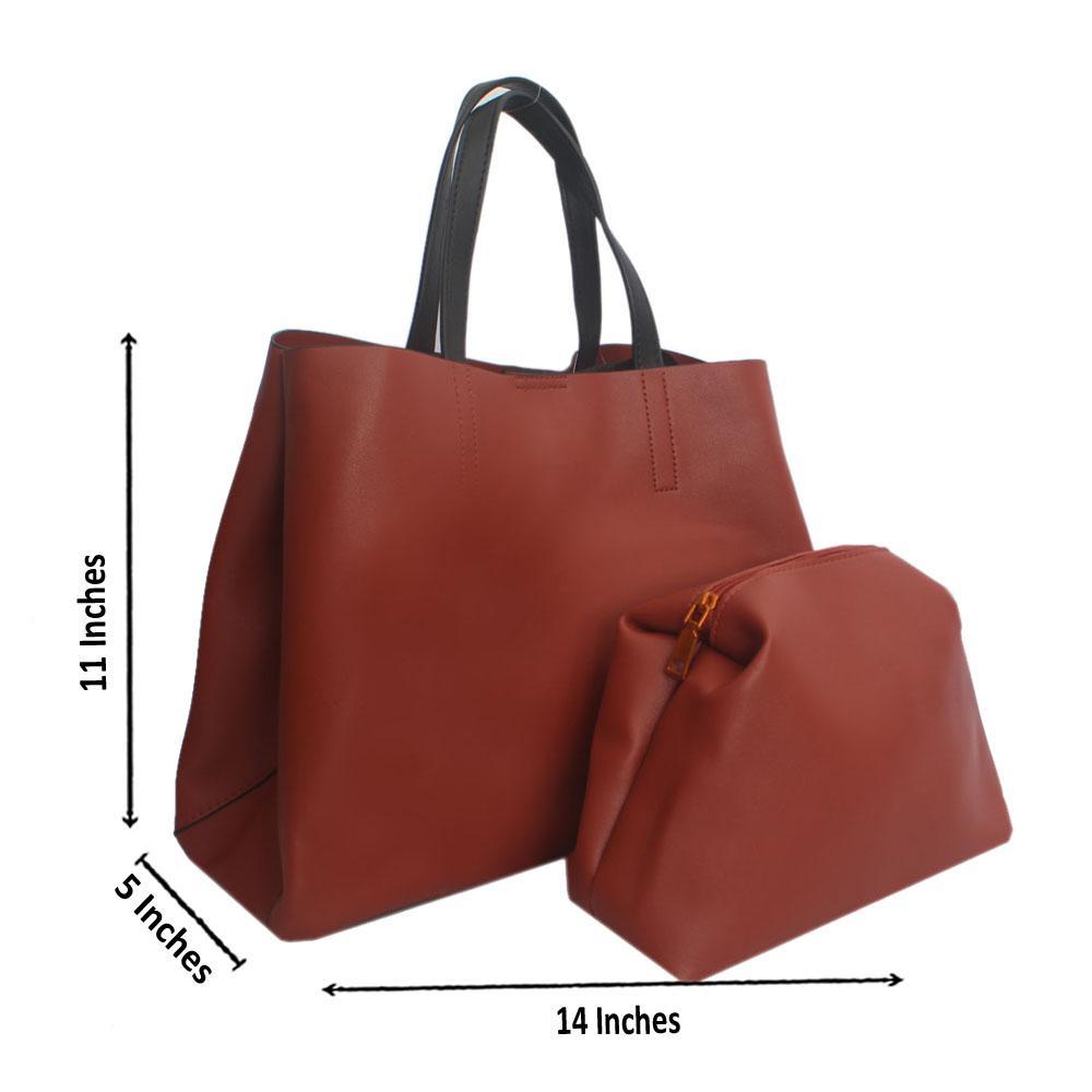 Sandy Brown Leather Handbag
