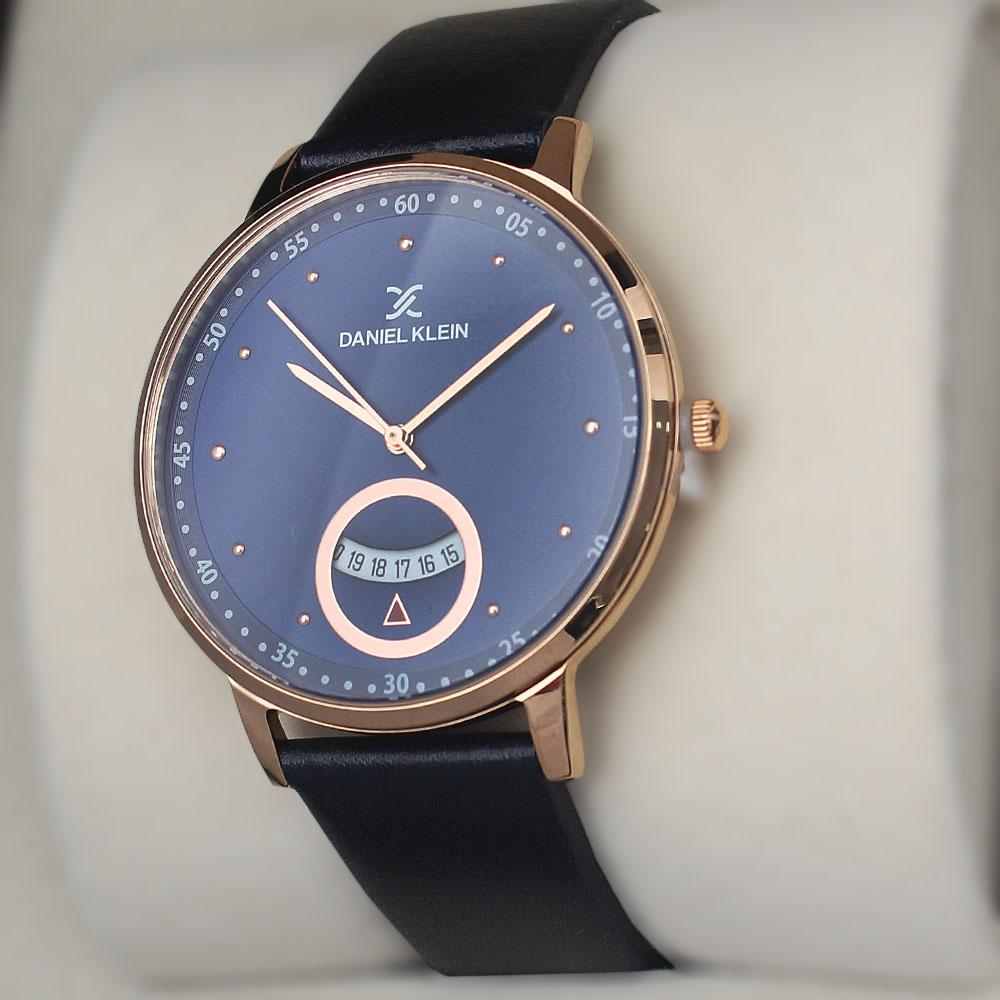 Daniel Klein Aticcus Blue Leather Watch