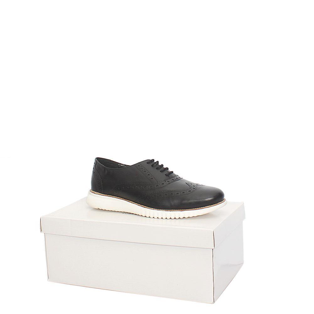 Kurt Geiger Blyth Black White Leather Comfort Fit Men Shoe