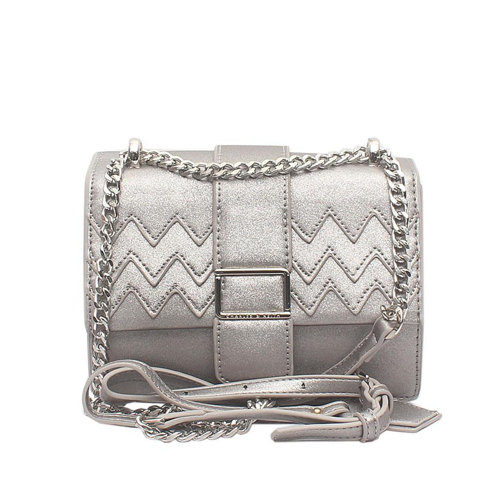 Silver Single Shoulder Chain Bag