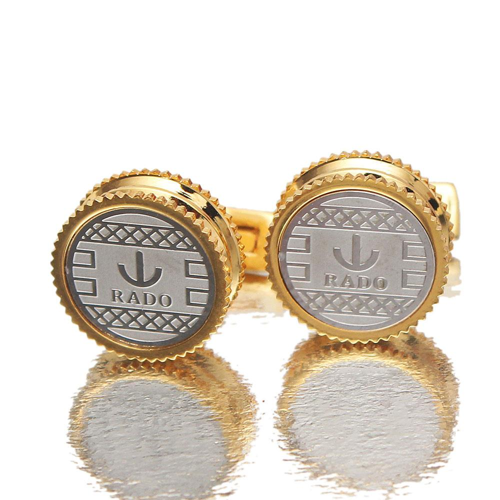 Rado Gold Silver Men Cufflinks