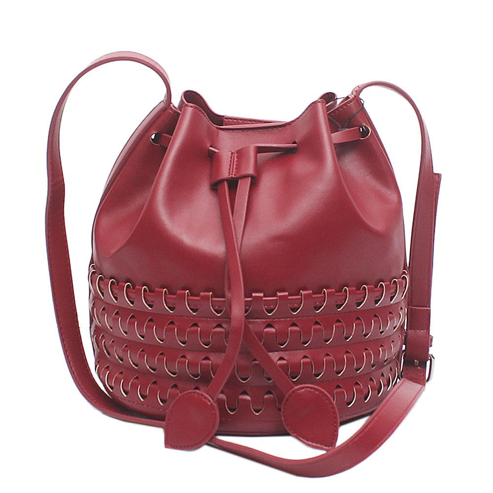 Cushion Rose Wine Leather Small Handbag