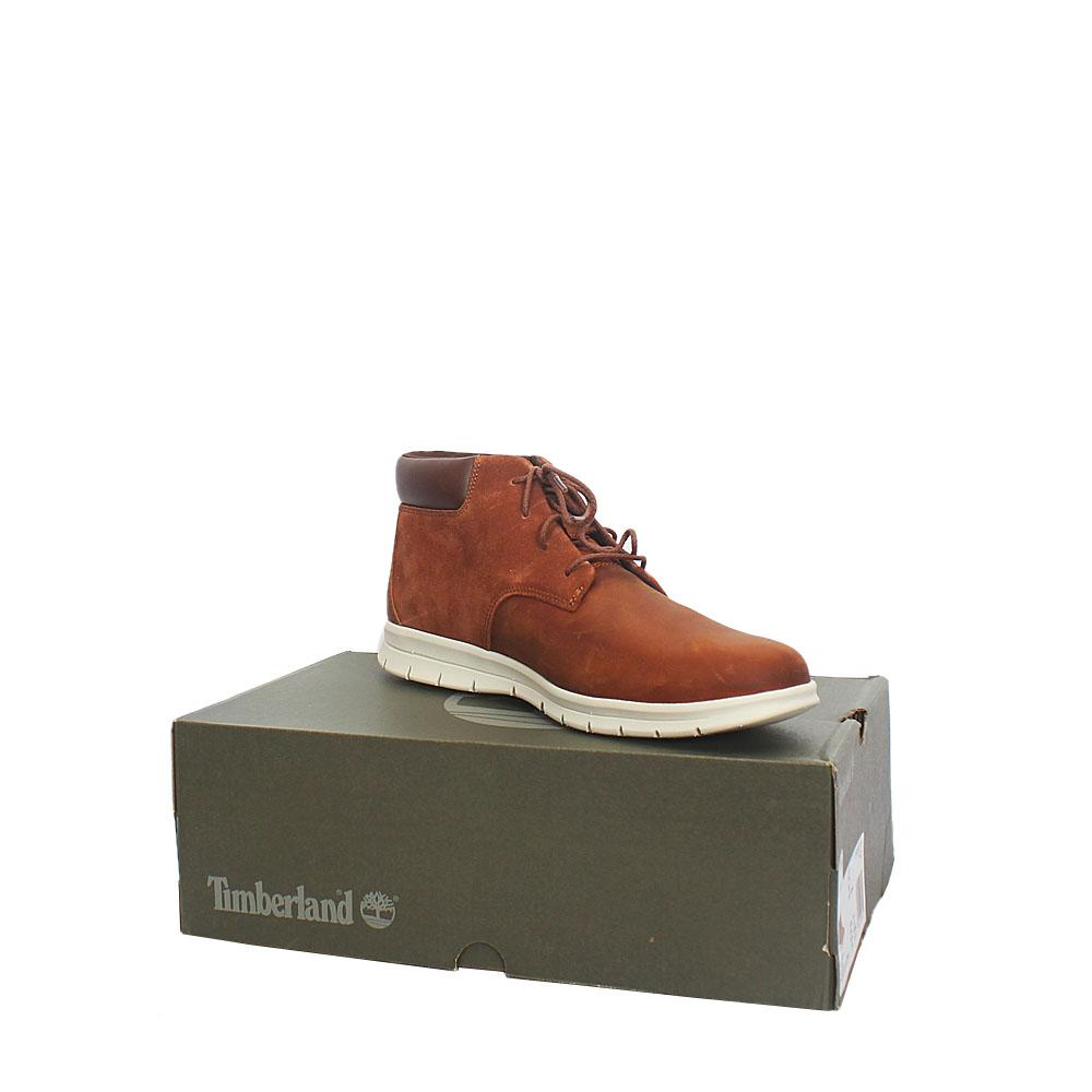 Timberland Dauset Chukka Brown Leather Men Ankle Sneakers