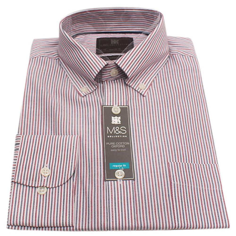 M & S Collection Multicolor Regular Fit L/Sleeve Men Shirt