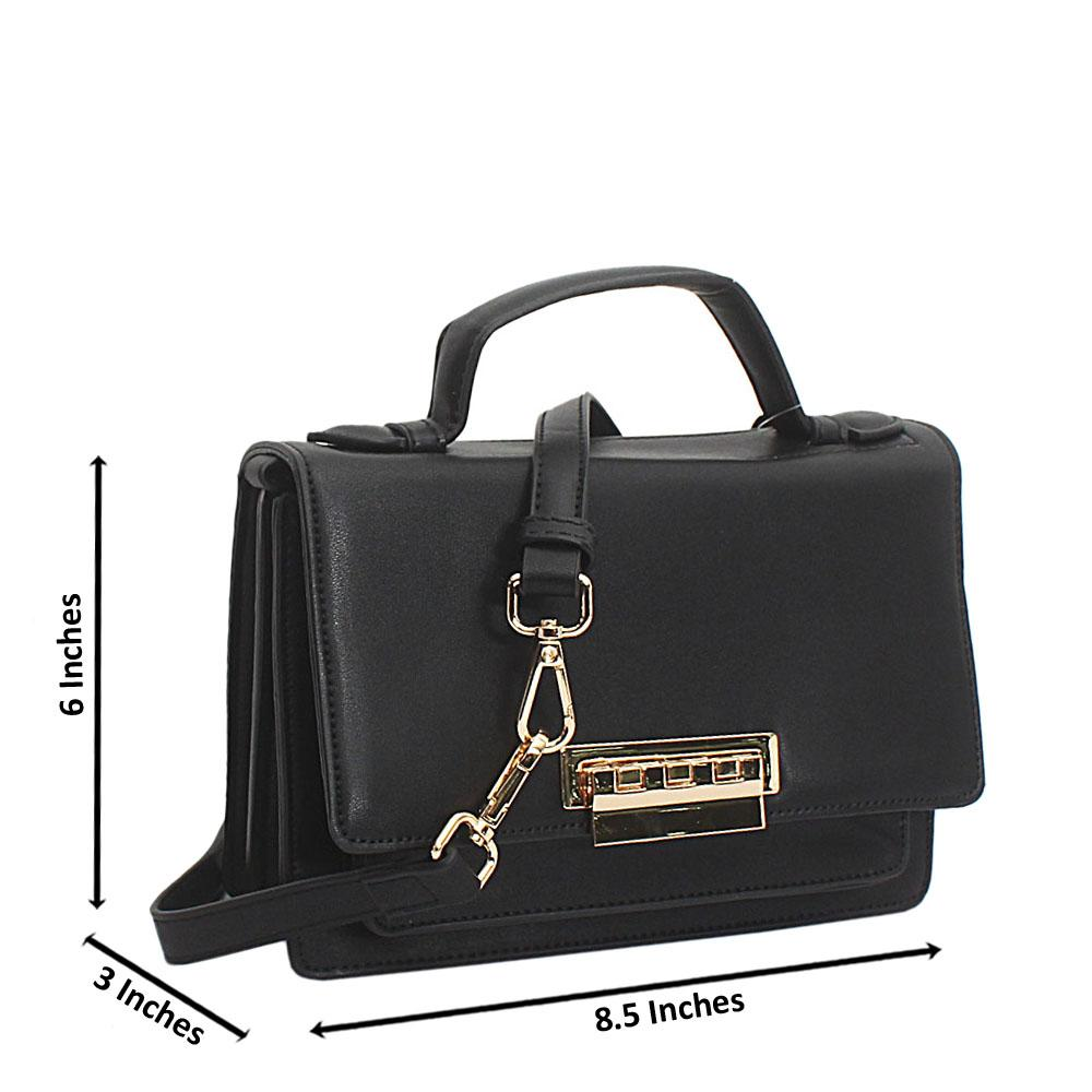 Black Leather Mini Delightful Bag