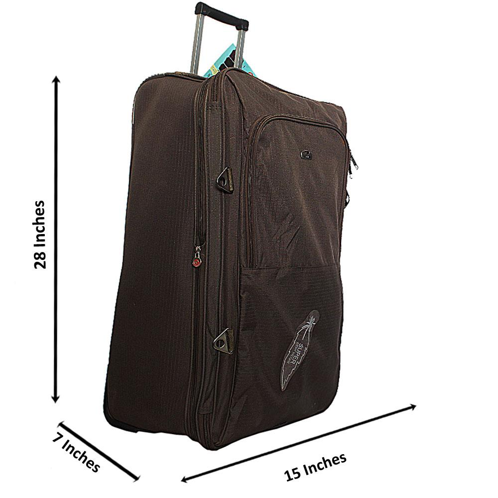 Aerolite Green 28 Inch Fabric 2Wheels Expandable Large Luggage
