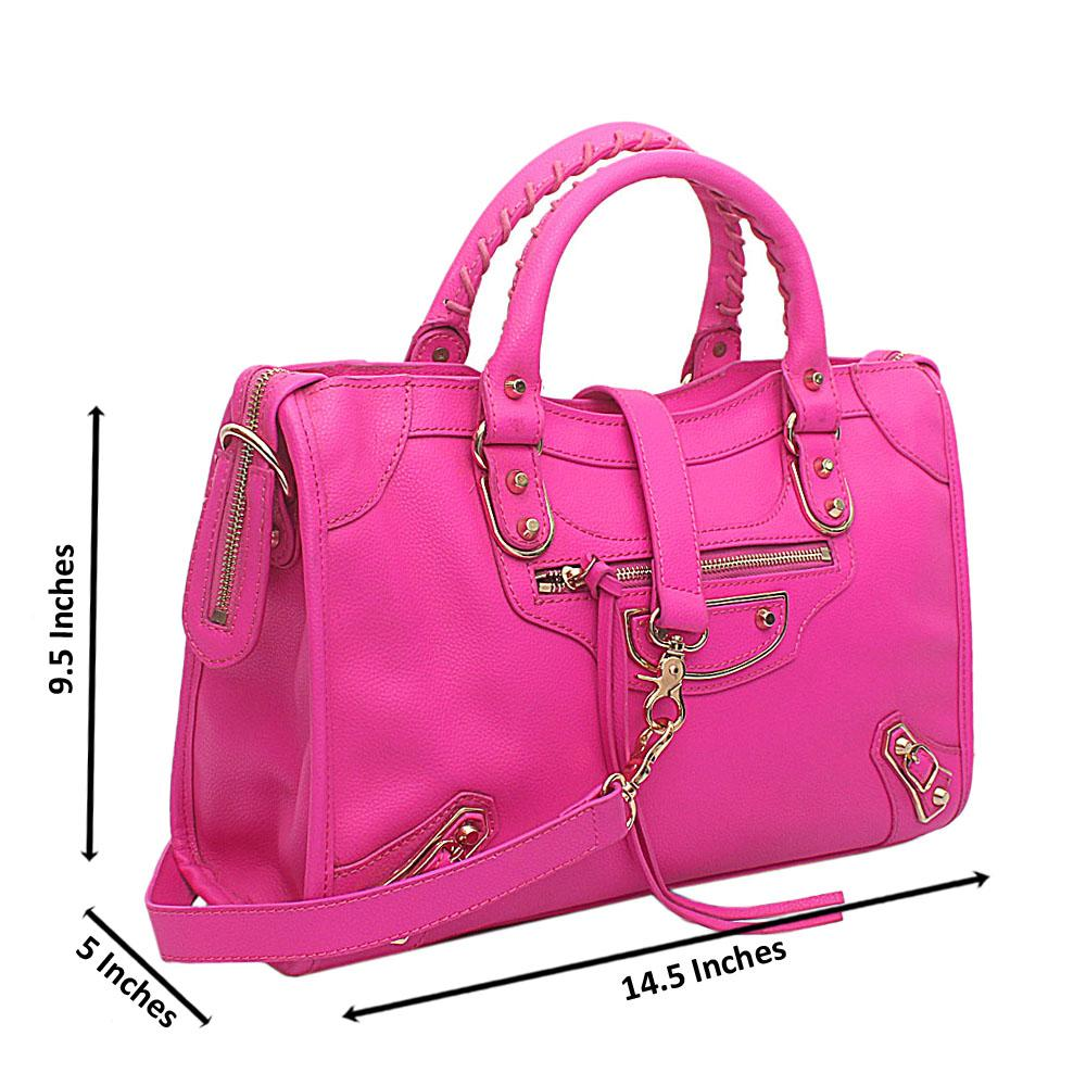 Barbie Pink Premium Leather Tote Handbag