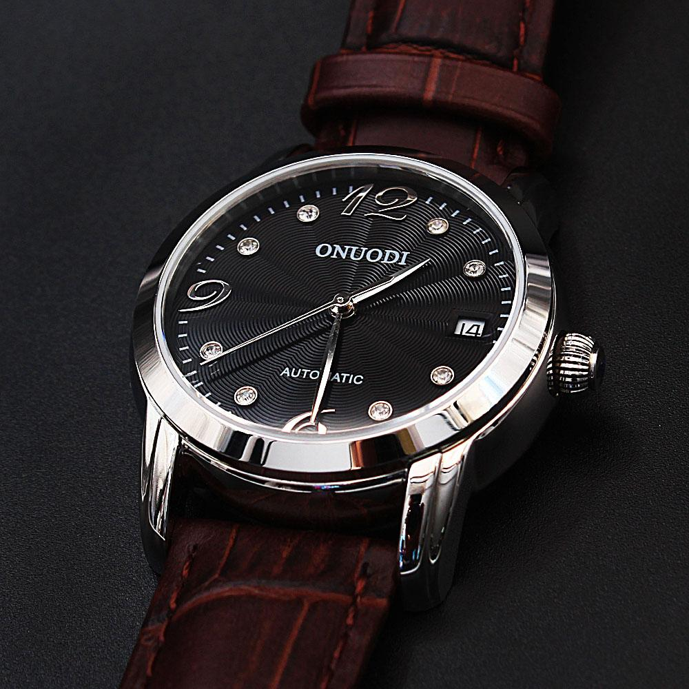 Diane Classic Brown Leather Automatic Ladies Watch