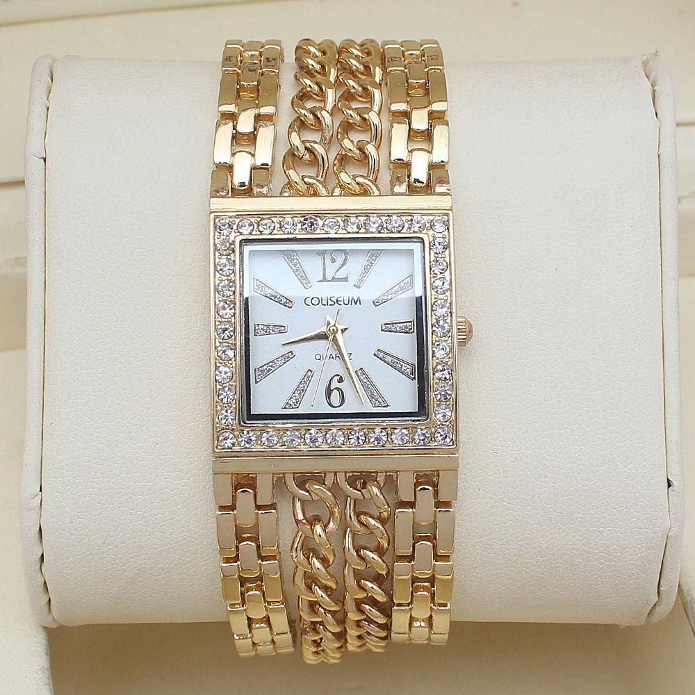 Coliseum Bae Gold Studded Ladies Fashion Watch-